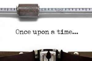 Once upon a time typed on an old typewriter