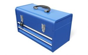 Toolbox. 3D. Blue Toolbox